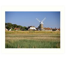 Cley Windmill Panorama Art Print