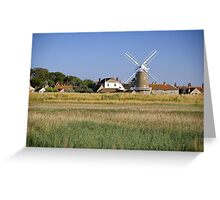 Cley Windmill Panorama Greeting Card