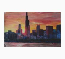 Chicago Skyline At Sunset Kids Clothes