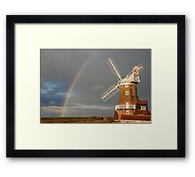 Cley Windmill and Rainbow 2010 Framed Print