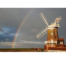 Cley Windmill and Rainbow 2010 Photographic Print
