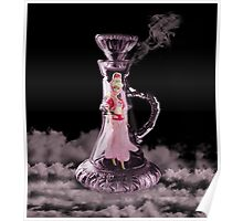 JEANNIE IN A BOTTLE..MAKE A WISH...THROW PILLOW-TOTE BAG-TABLET CASE-IPHONE COVER ECT. Poster