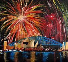 Sydney Silvester Fireworks At New Year by artshop77