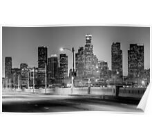 Downtown Los Angeles Skyline Poster