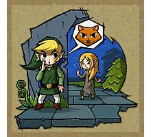 Legend of Zelda Wind Waker Meow T-Shirt Photographic Print