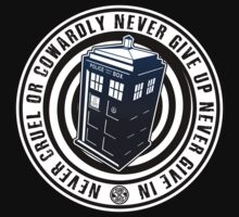 Never Cruel Or Cowardly - Doctor Who - Black TARDIS by James Ferguson - Darkinc1