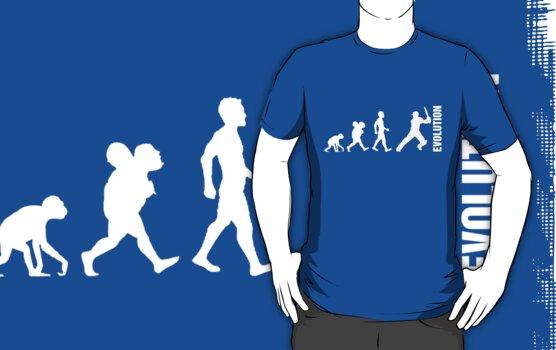 Evolution - Cricket (design 2) by aussietees