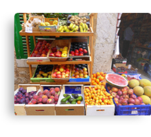 The Fruit And Vegetable Shop Metal Print