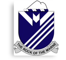 38th Infantry Regiment - The Rock Of The Marne Canvas Print