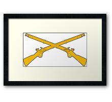 Infantry Crossed Rifles Framed Print
