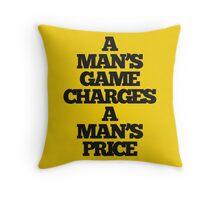 TRUE DETECTIVE MAN'S GAME Throw Pillow