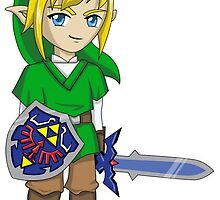 Legend of Zelda - Link sticker by littlebearart