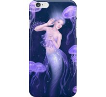 Bioluminescence Jellyfish Mermaid iPhone Case/Skin