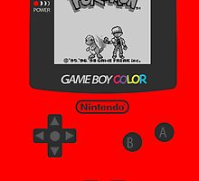 Pokemon Red on GameBoyColor by AronGilli by AronGilli