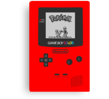 Pokemon Red on GameBoyColor by AronGilli Canvas Print