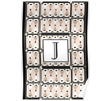 1920s Pink Champagne Gatsby Monogram letter J Poster