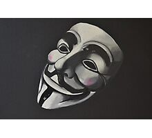 V is for Vendetta Photographic Print