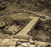 Bridge - Annapurna Sanctuary Trek - Nepal by Mark Mathieson