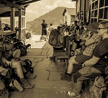 Rest break - Annapurna Sanctuary - Nepal by Mark Mathieson