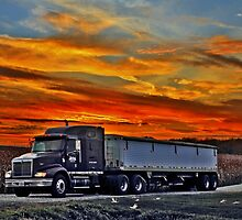 Semi And Sunset by EBArt