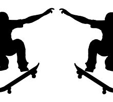 Skateboarder Mirror Image by kwg2200