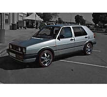 Volkswagen Golf GTI in Silver Photographic Print