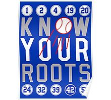 """Dodgers """"Know Your Roots"""" Poster"""
