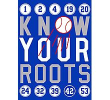 """Dodgers """"Know Your Roots"""" Photographic Print"""