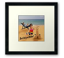Do I irk you Miller? (Broadchurch) Framed Print