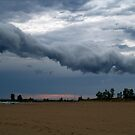 The Storm That Cleared The Beach by BarbL