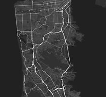 San Francisco, USA Map. (White on black) by Graphical-Maps