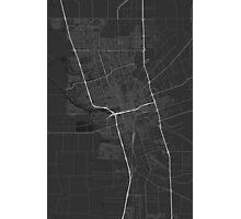 Stockton, USA Map. (White on black) Photographic Print