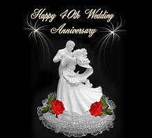 HAPPY 40TH WEDDING ANNIVERSARY PILLOW - TOTE BAG - & TABLET by ✿✿ Bonita ✿✿ ђєℓℓσ