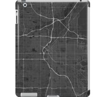 Denver, USA Map. (White on black) iPad Case/Skin