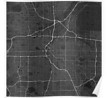 Denver, USA Map. (White on black) Poster