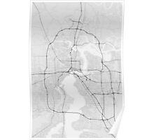 Jacksonville, USA Map. (Black on white) Poster