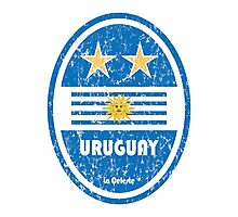 World Cup Football 4/8 - Uruguay (Distressed) Photographic Print