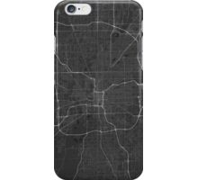 Indianapolis, USA Map. (White on black) iPhone Case/Skin