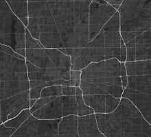 Indianapolis, USA Map. (White on black) by Graphical-Maps