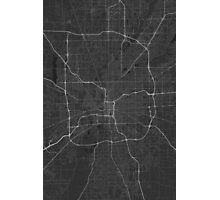 Indianapolis, USA Map. (White on black) Photographic Print