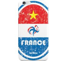 World Cup Football 7/8 - France (Distressed) iPhone Case/Skin