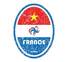 World Cup Football 7/8 - France (Distressed) Photographic Print