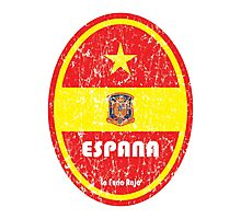 World Cup Football 8/8 - Espana (Distressed) Photographic Print