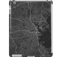 Boston, USA Map. (White on black) iPad Case/Skin