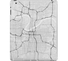 Kansas City, USA Map. (Black on white) iPad Case/Skin