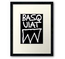 Basquiat Upside Framed Print