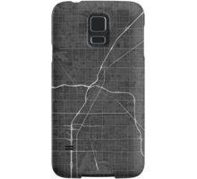 Las Vegas, USA Map. (White on black) Samsung Galaxy Case/Skin