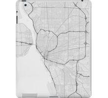 Buffalo, USA Map. (Black on white) iPad Case/Skin