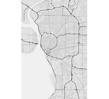 Buffalo, USA Map. (Black on white) Photographic Print