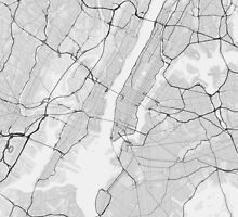 New York, USA Map. (Black on white) by Graphical-Maps